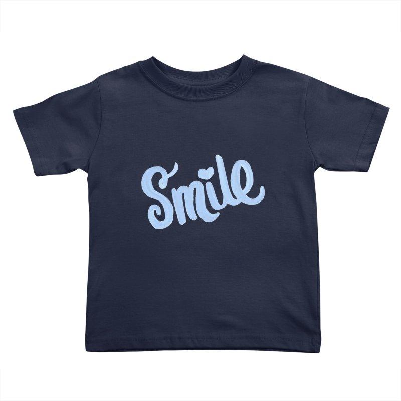 blue smile Kids Toddler T-Shirt by MIREYA