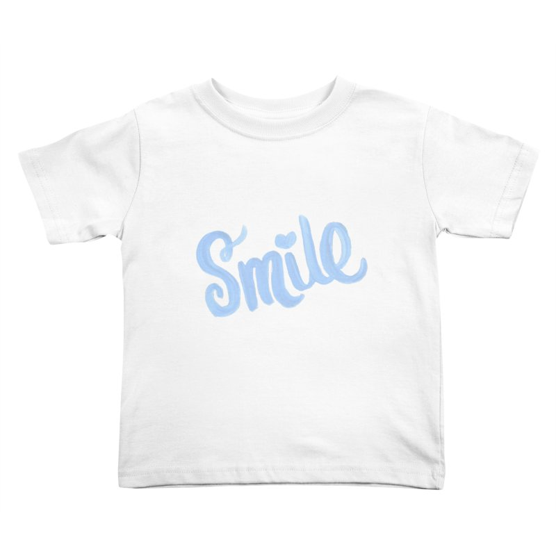 blue smile Kids Toddler T-Shirt by MIREYA