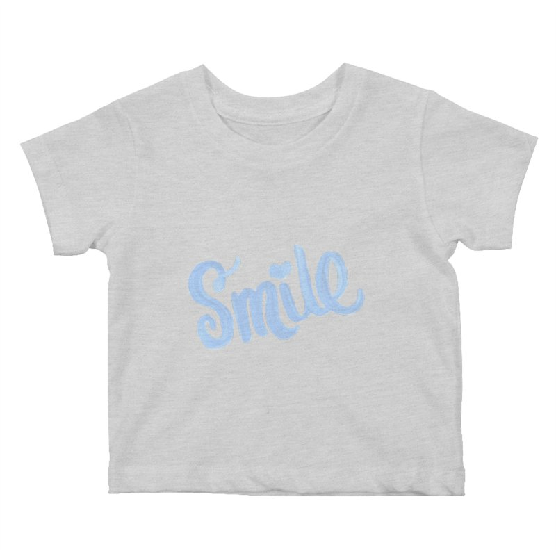 blue smile Kids Baby T-Shirt by MIREYA