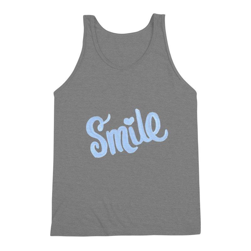 blue smile Men's Triblend Tank by MIREYA