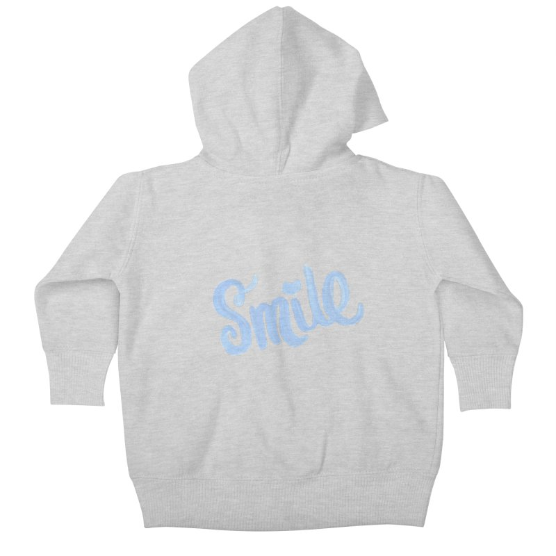 blue smile Kids Baby Zip-Up Hoody by MIREYA