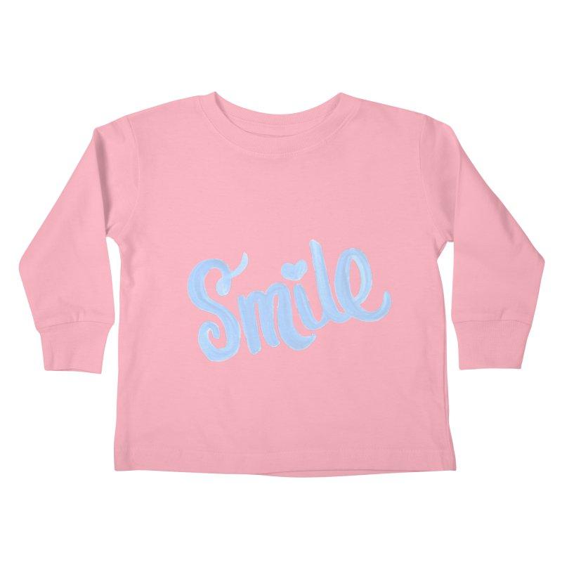 blue smile Kids Toddler Longsleeve T-Shirt by MIREYA