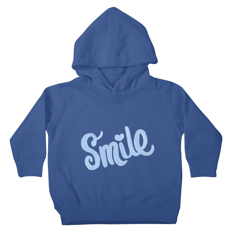 blue smile Kids Toddler Pullover Hoody by MIREYA