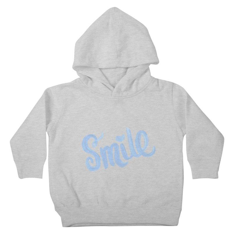 blue smile Kids Toddler Pullover Hoody by MIREYA