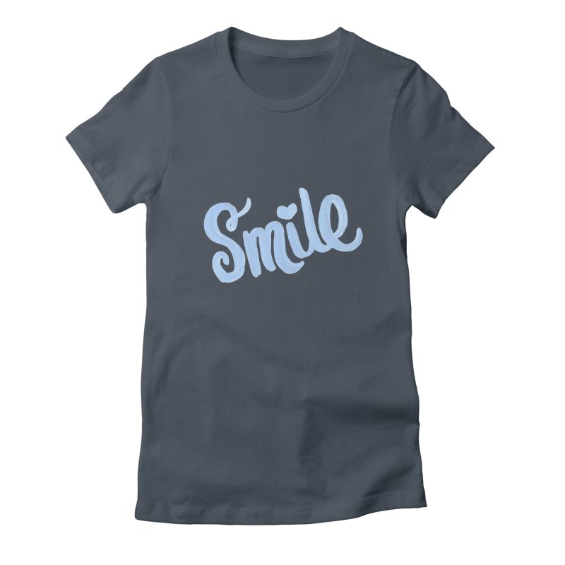 blue smile Women's Fitted T-Shirt by MIREYA