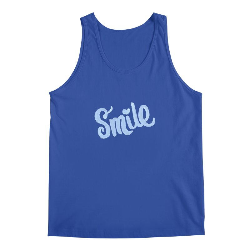 blue smile Men's Tank by MIREYA