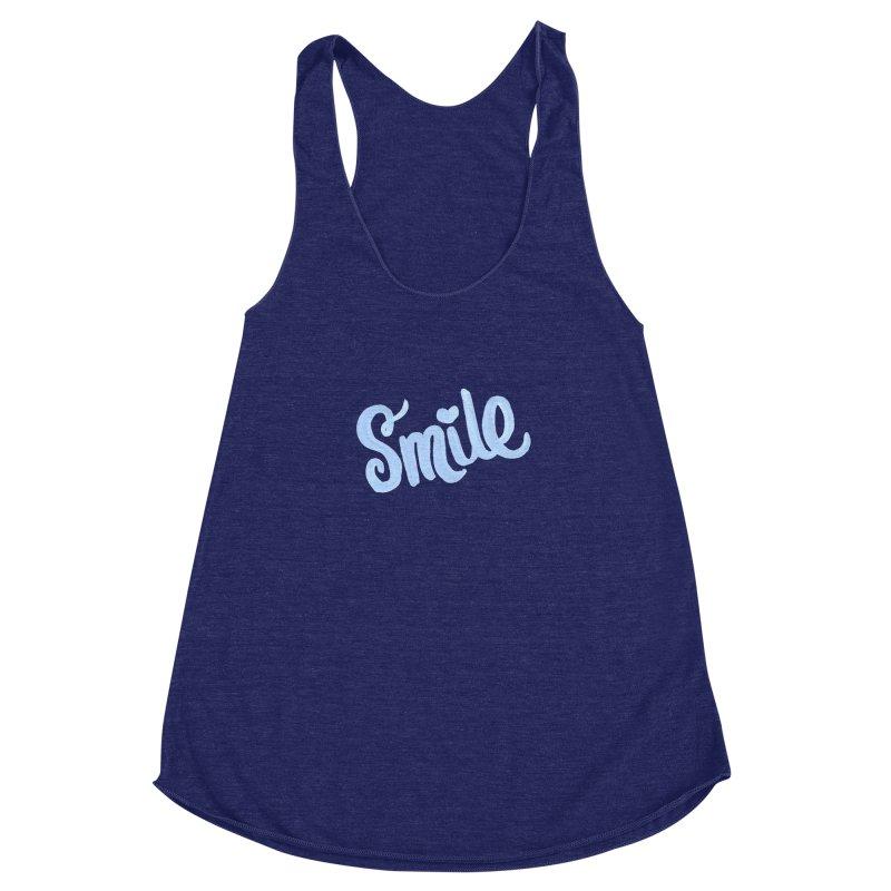 blue smile Women's Tank by MIREYA