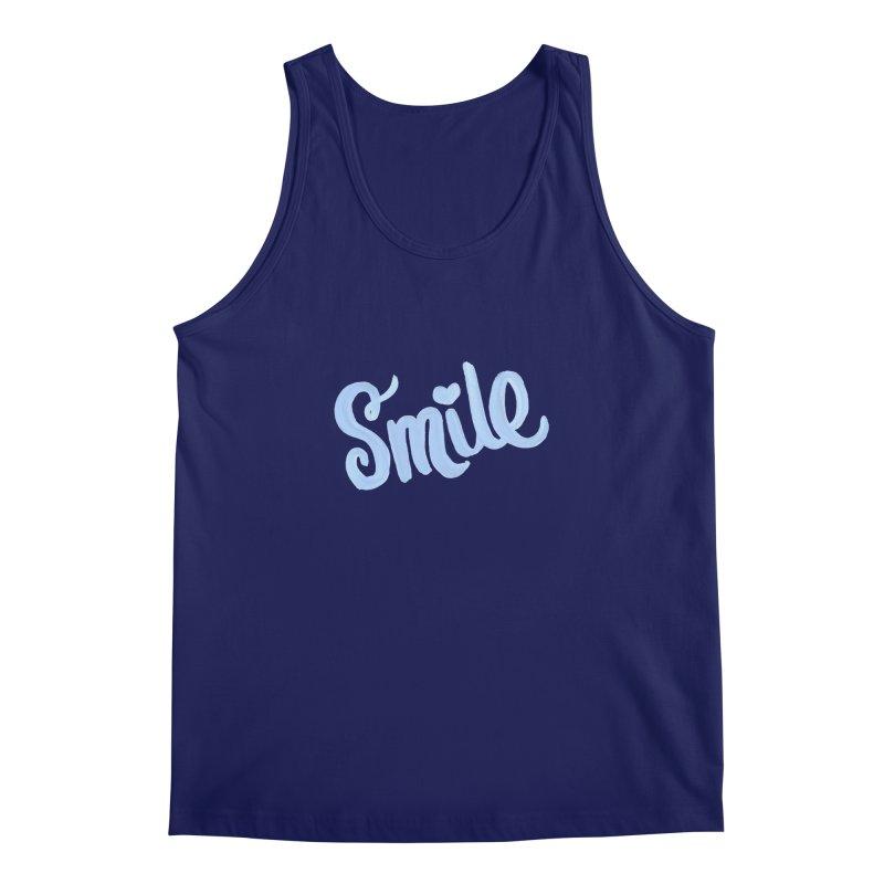 blue smile Men's Regular Tank by MIREYA