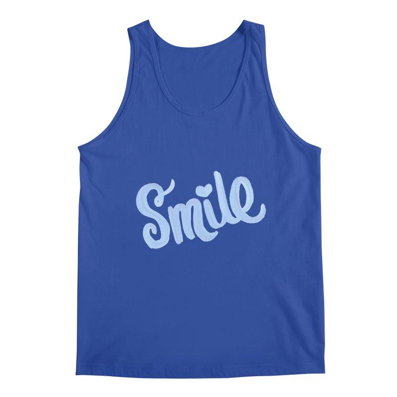 blue smile Men's Tank by MIREYA
