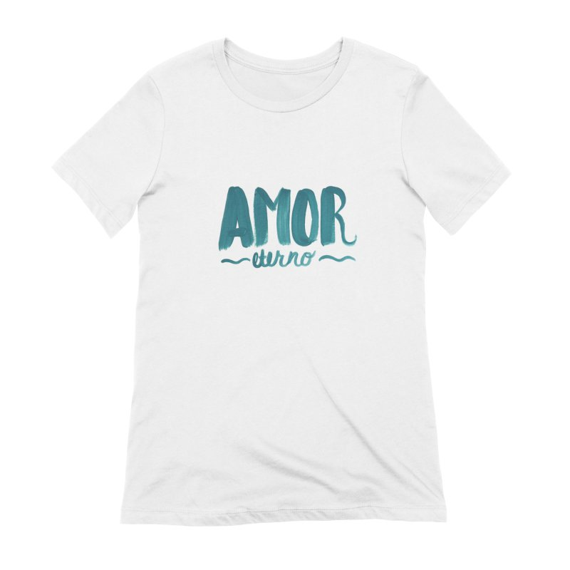 Amor Eterno in Women's Extra Soft T-Shirt White by MIREYA