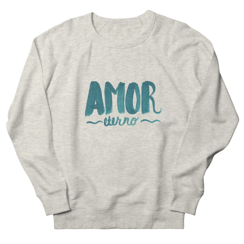 Amor Eterno in Women's French Terry Sweatshirt Heather Oatmeal by MIREYA