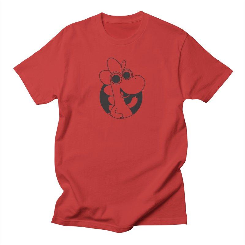 Black Dino Men's T-Shirt by Hellosaurus Swag