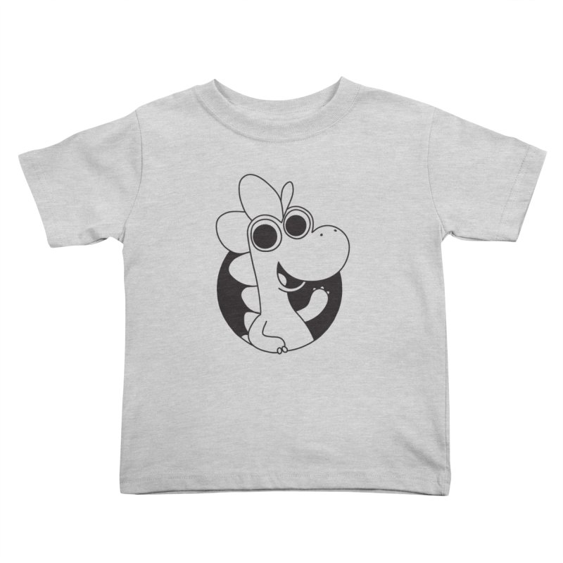 Black Dino Kids Toddler T-Shirt by Hellosaurus Swag