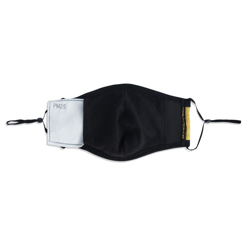 Black & White Dino - Pocket Accessories Face Mask by Hellosaurus Swag