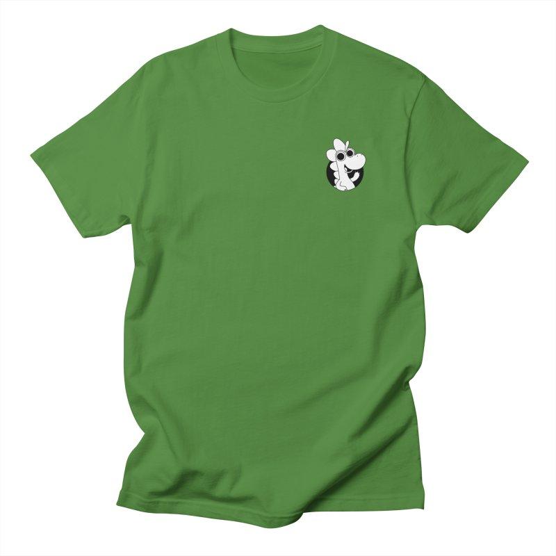 Black & White Dino - Pocket Men's T-Shirt by Hellosaurus Swag