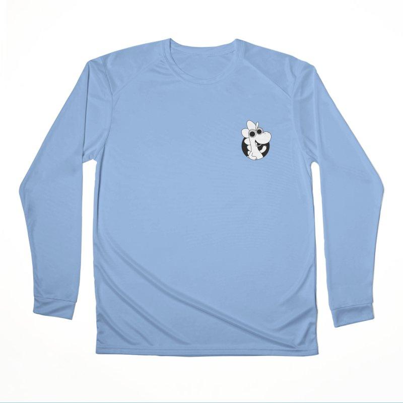 Black & White Dino - Pocket Men's Longsleeve T-Shirt by Hellosaurus Swag