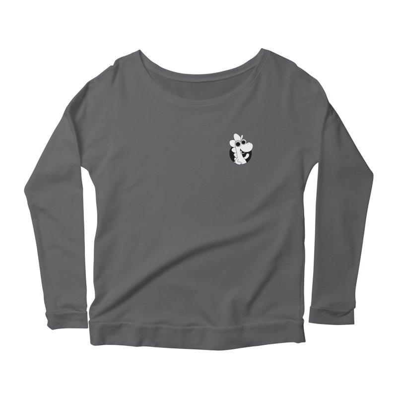 Black & White Dino - Pocket Women's Longsleeve T-Shirt by Hellosaurus Swag