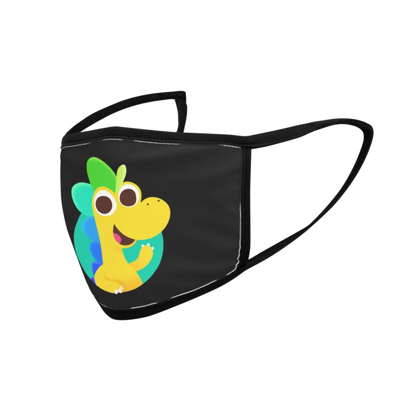 Color Dino Accessories Face Mask by Hellosaurus Swag