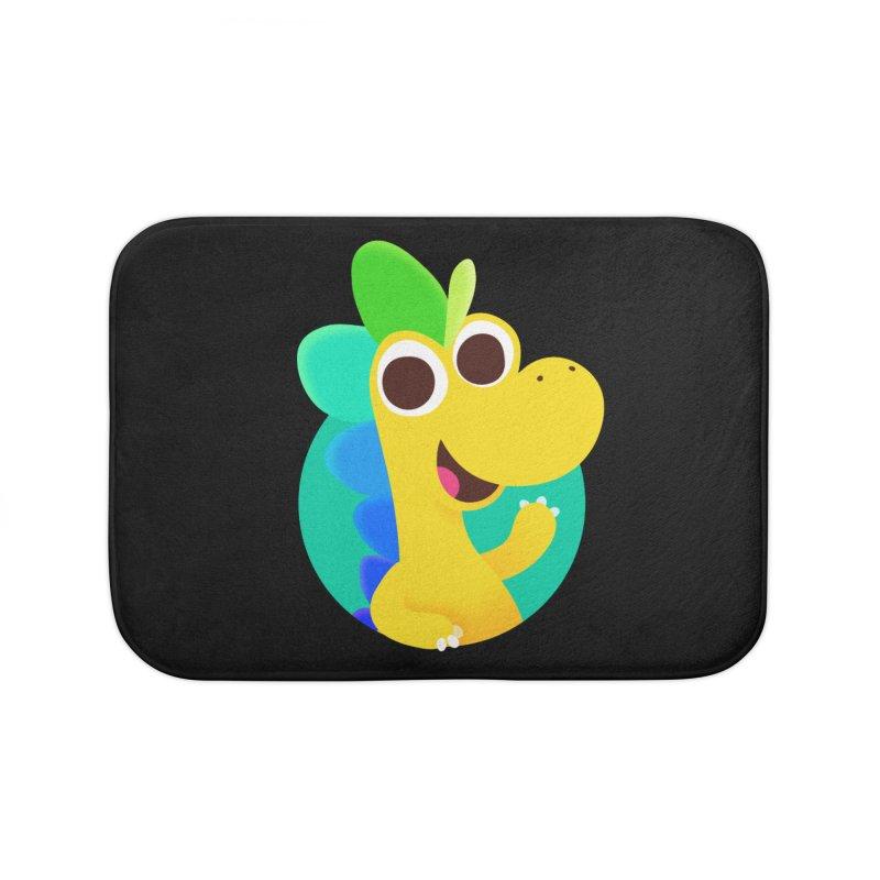 Color Dino Home Bath Mat by Hellosaurus Swag