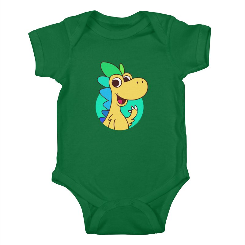 Color Dino Kids Baby Bodysuit by Hellosaurus Swag