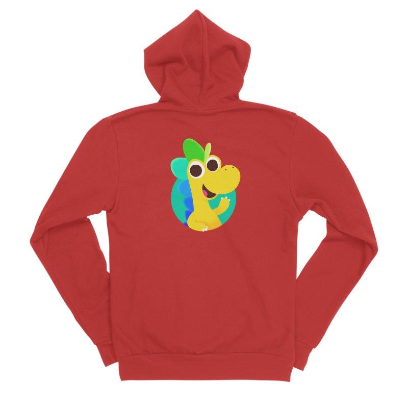 Color Dino Men's Zip-Up Hoody by Hellosaurus Swag