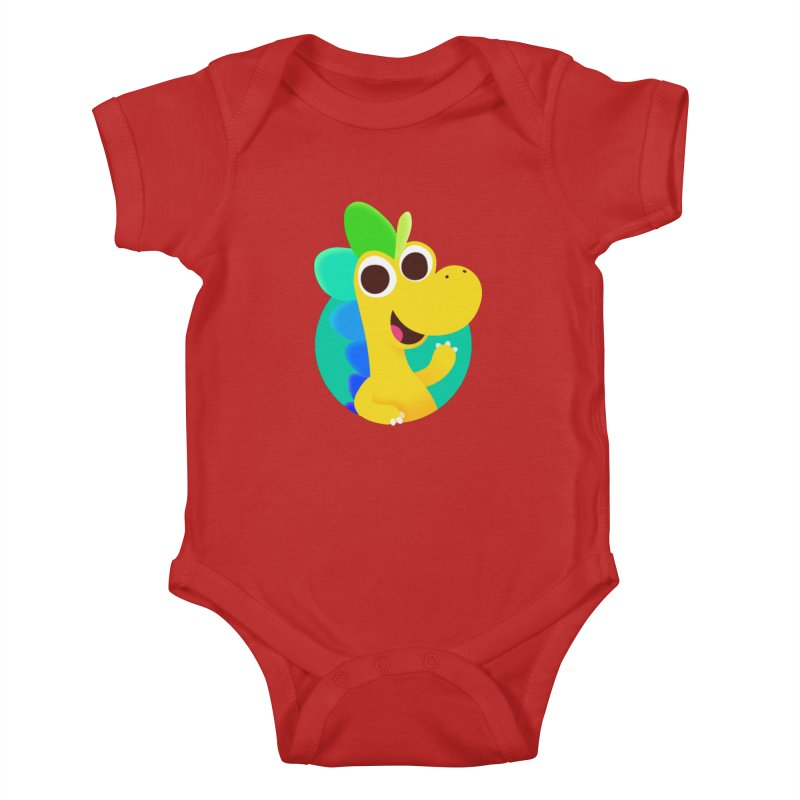 Color Dino Kids Baby Bodysuit by Hellosaurus Swag