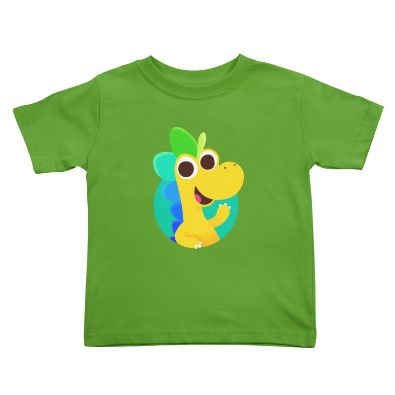 Color Dino Kids Toddler T-Shirt by Hellosaurus Swag