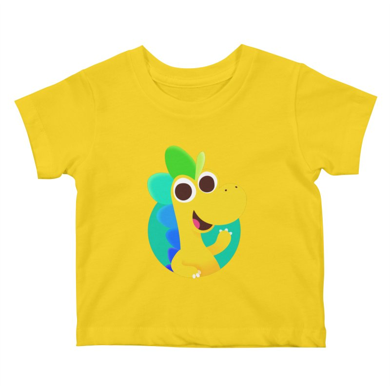 Color Dino Kids Baby T-Shirt by Hellosaurus Swag