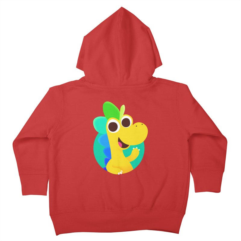 Color Dino Kids Toddler Zip-Up Hoody by Hellosaurus Swag