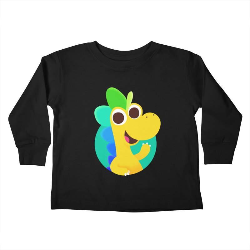 Color Dino Kids Toddler Longsleeve T-Shirt by Hellosaurus Swag