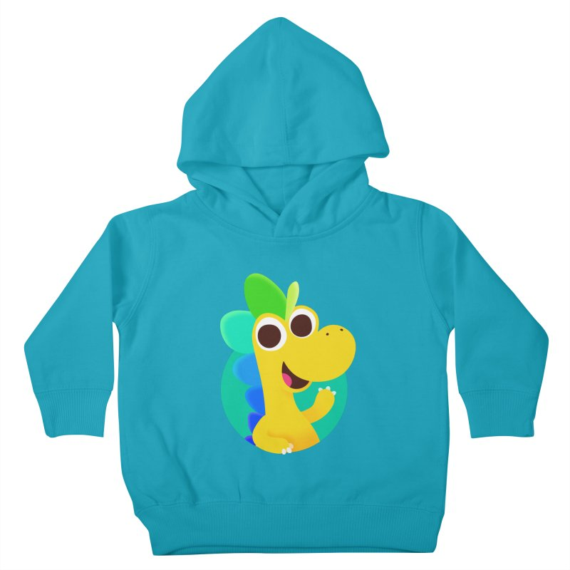 Color Dino Kids Toddler Pullover Hoody by Hellosaurus Swag