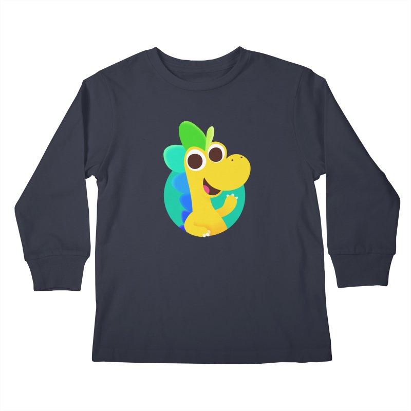 Color Dino Kids Longsleeve T-Shirt by Hellosaurus Swag