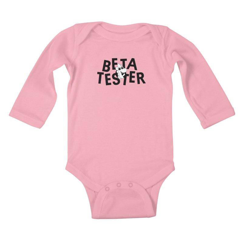 Betasaurus Kids Baby Longsleeve Bodysuit by Hellosaurus Swag