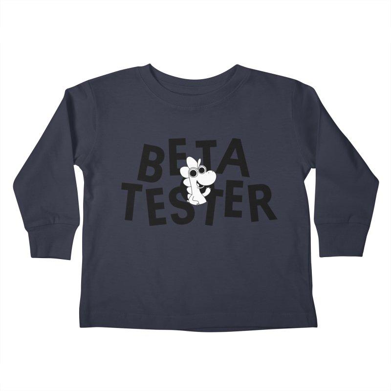 Betasaurus Kids Toddler Longsleeve T-Shirt by Hellosaurus Swag