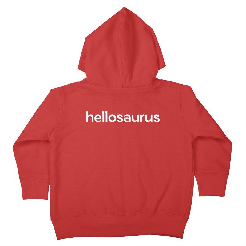 Hellosaurus Kids Toddler Zip-Up Hoody by Hellosaurus Swag