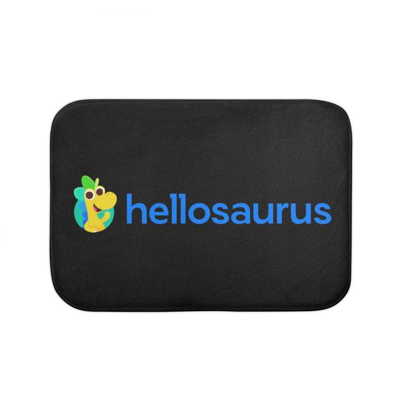 Full Hellosaurus Logo Home Bath Mat by Hellosaurus Swag