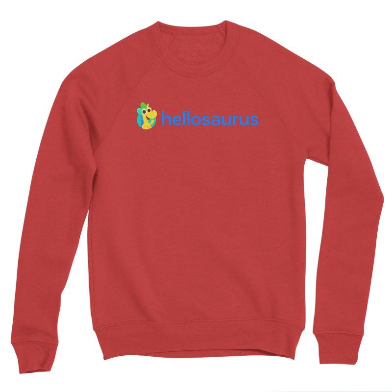 Full Hellosaurus Logo Men's Sweatshirt by Hellosaurus Swag