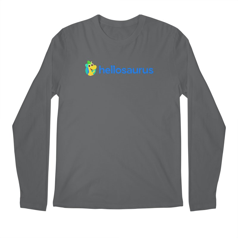 Full Hellosaurus Logo Men's Longsleeve T-Shirt by Hellosaurus Swag
