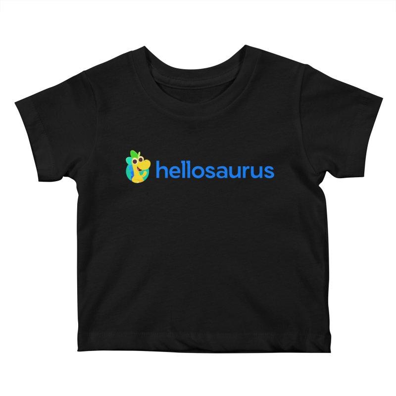 Full Hellosaurus Logo Kids Baby T-Shirt by Hellosaurus Swag