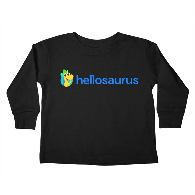Full Hellosaurus Logo Kids Toddler Longsleeve T-Shirt by Hellosaurus Swag