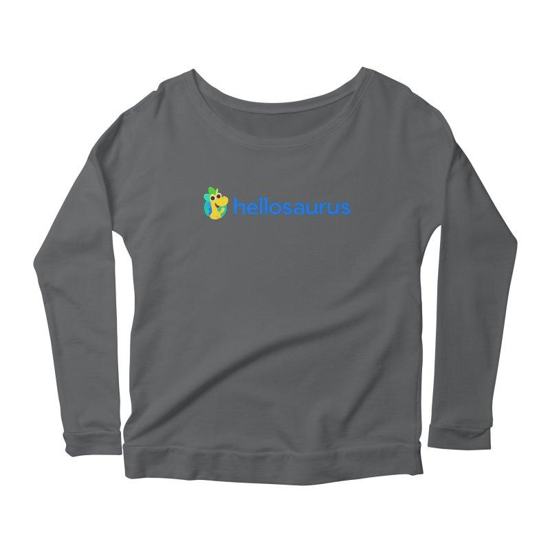 Full Hellosaurus Logo Women's Longsleeve T-Shirt by Hellosaurus Swag