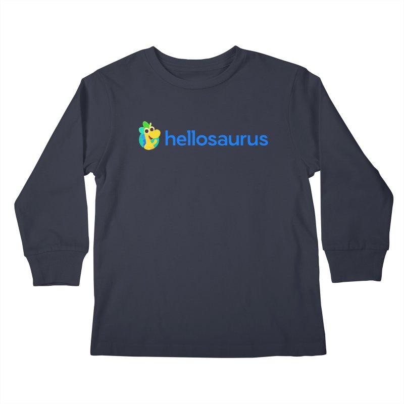 Full Hellosaurus Logo Kids Longsleeve T-Shirt by Hellosaurus Swag