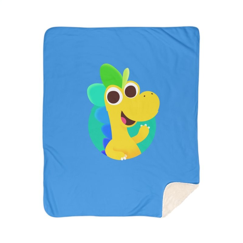 Color Dino - Pocket Home Blanket by Hellosaurus Swag