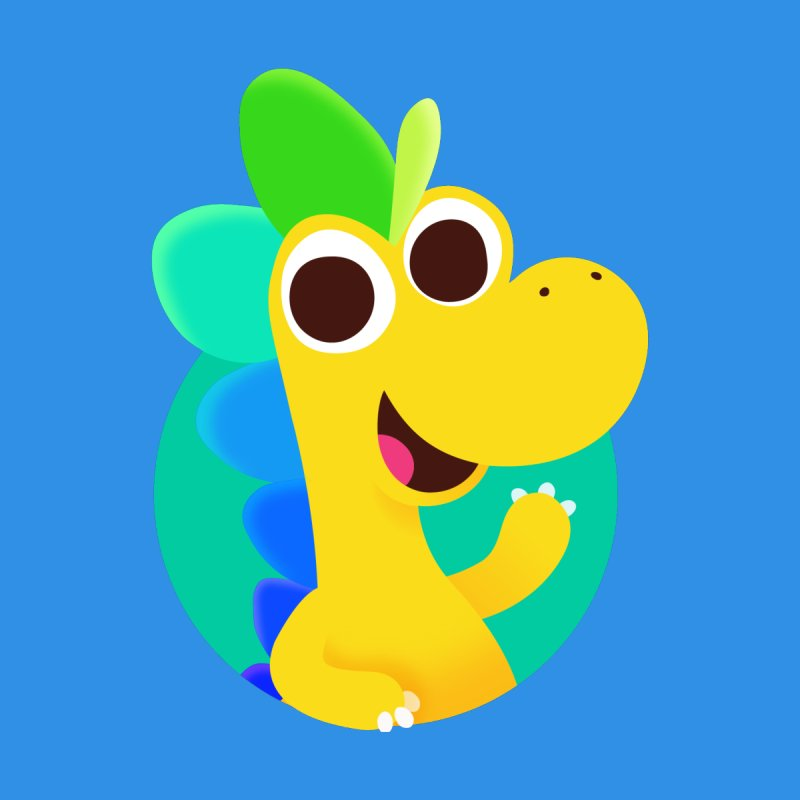 Color Dino - Pocket Kids Baby Longsleeve Bodysuit by Hellosaurus Swag