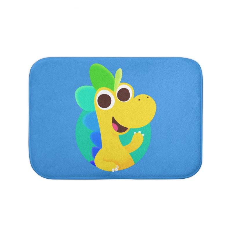 Color Dino - Pocket Home Bath Mat by Hellosaurus Swag