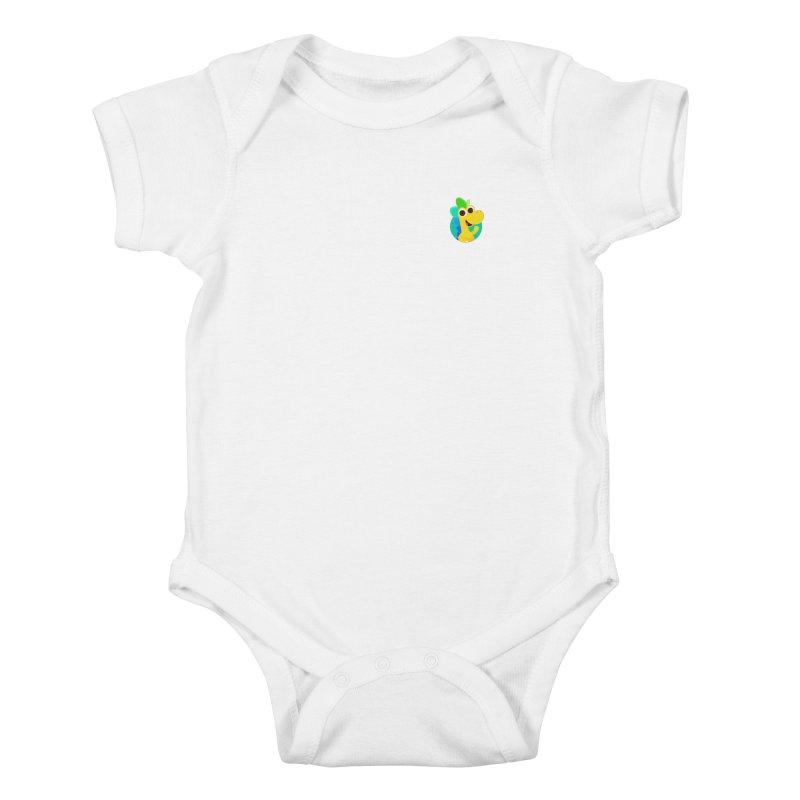 Color Dino - Pocket Kids Baby Bodysuit by Hellosaurus Swag