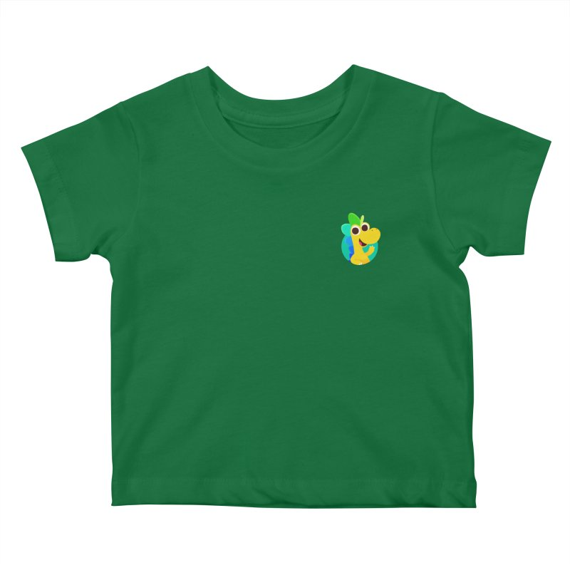 Color Dino - Pocket Kids Baby T-Shirt by Hellosaurus Swag
