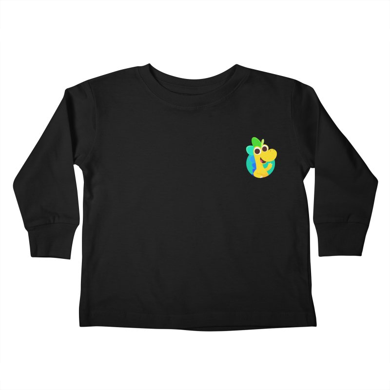 Color Dino - Pocket Kids Toddler Longsleeve T-Shirt by Hellosaurus Swag