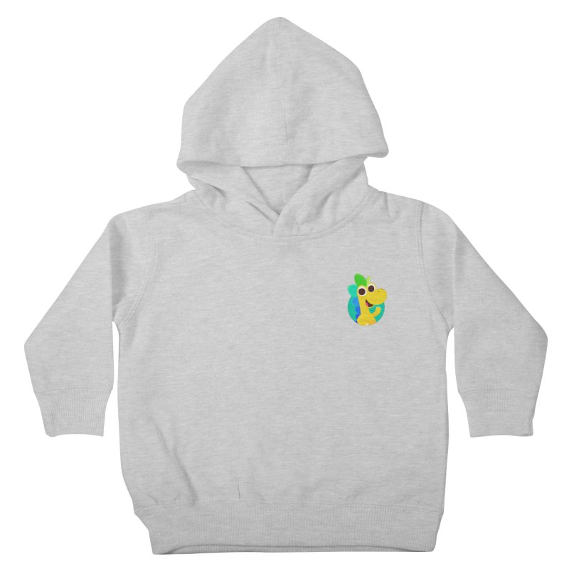 Color Dino - Pocket Kids Toddler Pullover Hoody by Hellosaurus Swag
