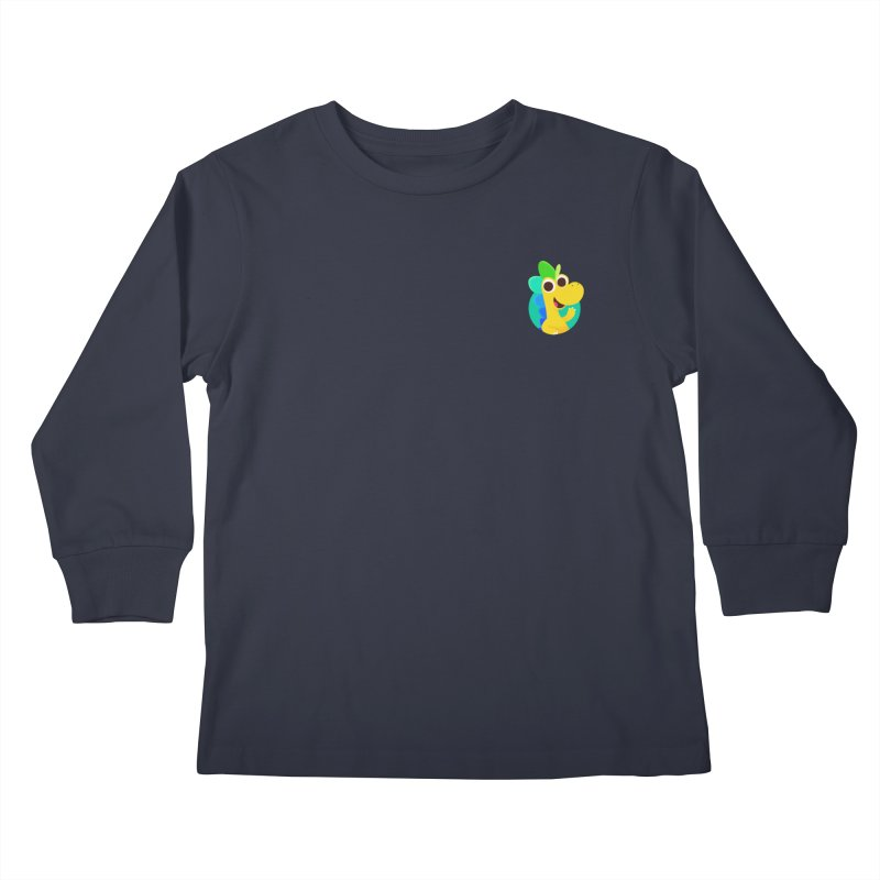 Color Dino - Pocket Kids Longsleeve T-Shirt by Hellosaurus Swag
